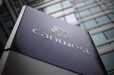 <p>A Canwest sign is seen outside an office building in Toronto, October 6, 2009. REUTERS/Mark Blinch</p>