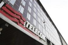 <p>Logo di Telecom Italia nella sede di Milano. REUTERS/Stefano Rellandini</p>