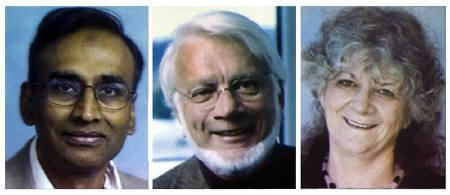 File portraits of the 2009 Chemistry Nobel Prize winners during the announcement of the winners at the Royal Academy of Sciences in Stockholm October 7, 2009. Venkatraman Ramakrishnan and Thomas Steitz of the U.S. and Ada Yonath of Israel have won the 2009 Nobel Prize in chemistry for ''studies of the structure of the ribosome''.  REUTERS/Scanpix