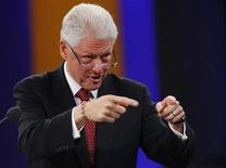 <p>Former President Bill Clinton speaks at the Clinton Global Initiative, in New York, September 25, 2009. REUTERS/Chip East</p>