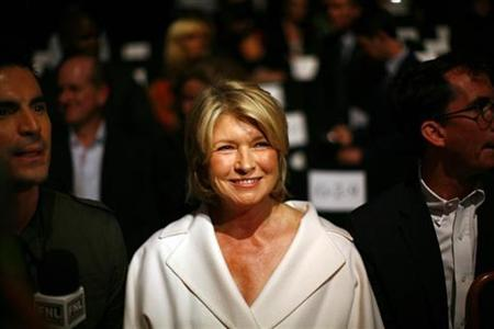 Martha Stewart attends the Chado Ralph Rucci Spring 2010 collection during New York Fashion Week, September 12, 2009. REUTERS/Eric Thayer