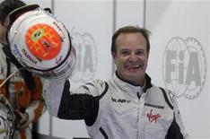 <p>Il pilopta brasiliano della Brawn, Rubens Barrichello . REUTERS/Bruno Domingos (BRAZIL SPORT MOTOR RACING)</p>