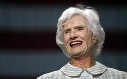 <p>Roberta McCain, mother of Republican presidential nominee Senator John McCain (R-AZ) smiles during a rally in Downingtown, Pennsylvania October 16, 2008. REUTERS/Carlos Barria</p>