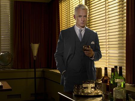 Actor John Slattery as Roger Sterling in a scene from ''Mad Men''. REUTERS/AMC/Handout
