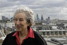 <p>Canadian author and poet Margaret Atwood attends an interview with Reuters on the roof at Waterstones in London September 3, 2009.REUTERS/Stefan Wermuth</p>