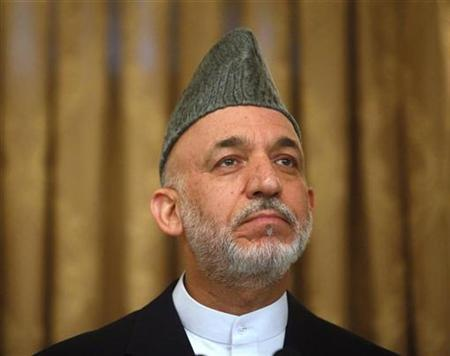 Afghan President Hamid Karzai during a news conference in Kabul, August 20, 2009. REUTERS/Ahmad Masood