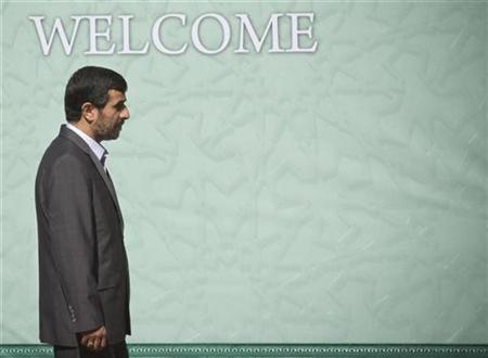 Iran's President Mahmoud Ahmadinejad in Tehran, October 17, 2009. REUTERS/Morteza Nikoubazl