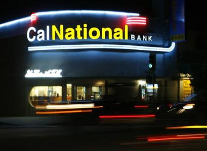 A California National Bank branch is pictured in suburban Los Angeles October 30, 2009. REUTERS/Fred Prouser