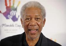 """<p>Foto de archivo del actor Morgan Freeman en el evento """"Mandela Day"""" realizado en Beverly Hills, EEUU, mayo 14 2009. Freeman será el protagonista y productor ejecutivo de una comedia inicialmente llamada """"Dirty Old Men"""", pero que aún no cuenta con un título definitivo. REUTERS/Phil McCarten</p>"""
