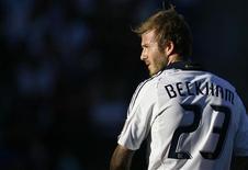 <p>O meio-campo inglês David Beckham voltará ao Milan em janeiro. Ele será emprestado pelo LA Galaxy. REUTERS/Danny Moloshok</p>