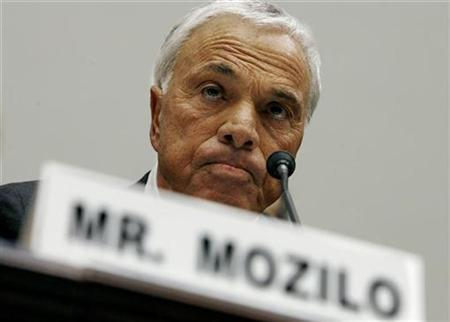 Countrywide Financial Corporation founder and CEO Angelo Mozilo testifies before the House Committee on Oversight and Government Reform on Capitol Hill in Washington in this March 7, 2008 file photo. REUTERS/Kevin Lamarque