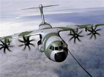 <p>An undated hand out picture shows an A400M Airbus Military aircraft in flight.</p>