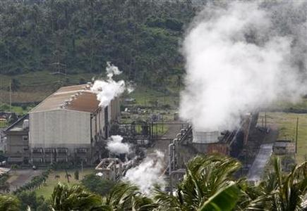 A view of the National Power Corp.'s Makiling-Banahaw Geothermal plant in Laguna province south of the capital Manila February 7, 2008. REUTERS/Darren Whiteside