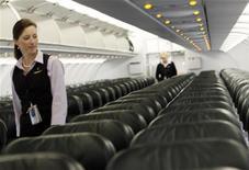 <p>L'interno di un aereo in una immagine di archivio. REUTERS/Rick Wilking</p>