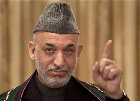Afghan President Hamid Karzai speaks during a news conference in Kabul November 3, 2009. REUTERS/Ahmad Masood