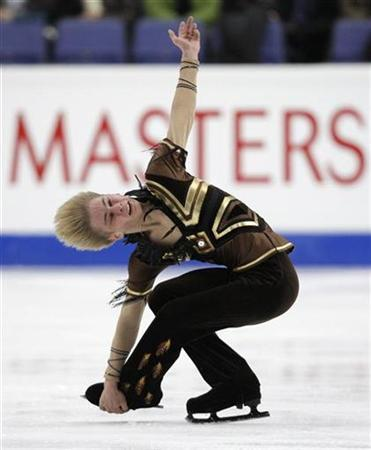 Andrei Lutai of Russia performs during the men's free skating program at the European Figure Skating Championships in Helsinki January 22, 2009. REUTERS/Grigory Dukor (FINLAND)
