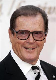 British actor Roger Moore poses during the opening night of the 47th Monte Carlo television Festival in Monaco in the June 10, 2007 file photo. REUTERS/Eric Gaillard