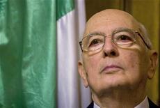 <p>Il presidente della Repubblica Giorgio Napolitano. REUTERS/David Blumenfeld/Pool</p>