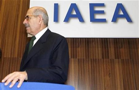 International Atomic Energy Agency IAEA Director General Mohamed ElBaradei arrives a board of governors meeting in Vienna, November 26, 2009. REUTERS/Heinz-Peter Bader