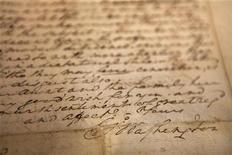 <p>George Washington's signature (bottom right) marks a letter to his nephew dated 1787, which will be auctioned on Friday for an expected $1.5-million to $2.5-million by Christie's in New York, December 1, 2009. REUTERS/Finbarr O'Reilly</p>