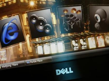 A Dell desktop monitor is seen at a Dell outlet in Hong Kong October October 21, 2009. REUTERS/Bobby Yip