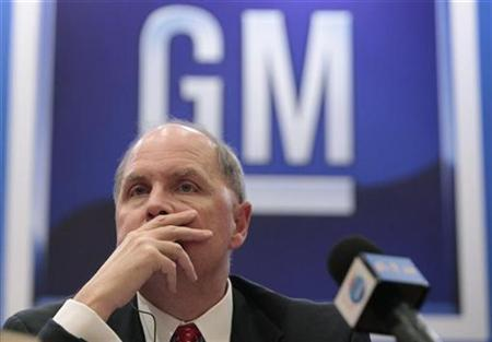 General Motors Co. Chief Executive Fritz Henderson during a news conference in Shanghai, October 13, 2009. REUTERS/Aly Song