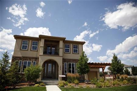 A model home built by Toll Brothers is put up for sale in a housing development in Broomfield, Colorado August 12, 2009. REUTERS/Rick Wilking