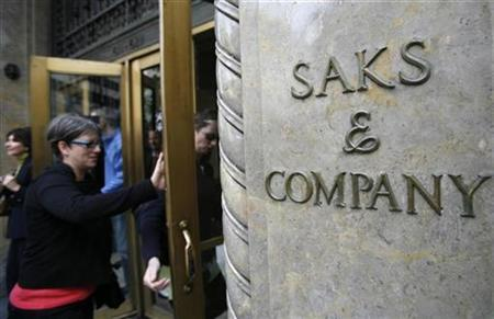 The outside of the Saks Fifth Avenue store is seen in New York in this October 8, 2009 file photo. REUTERS/Shannon Stapleton