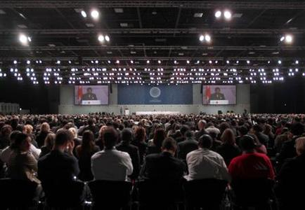 A general view of the opening of the United Nations Climate Change Conference 2009, also known as COP15, at the Bella center in Copenhagen December 7, 2009. REUTERS/Bob Strong