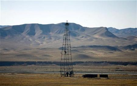 An oil installation is seen in an area near Herat December 17, 2009. REUTERS/Morteza Nikoubazl