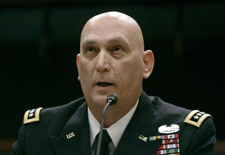 General Ray Odierno, commanding general of the Multi-National Force-Iraq, testifies before the House of Representatives Armed Services Committee on Capitol Hill in Washington, September 30, 2009. REUTERS/Hyungwon Kang