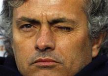 <p>L'allenatore dell'Inter Jose Mourinho. REUTERS/Giampiero Sposito</p>