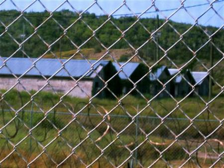 A view of Camp X-Ray in Guantanamo Bay U.S. Naval Base August 5, 2009. REUTERS/Deborah Gembara