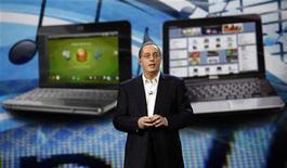 <p>Il presidente e CEO di Intel, Paul Otellini, al CES di Las Vegas. REUTERS/Mario Anzuoni</p>