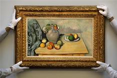<p>Pintura de Paul Cézanne foi um dos destaques de leilão da Sotheby's. REUTERS/Stefan Wermuth</p>