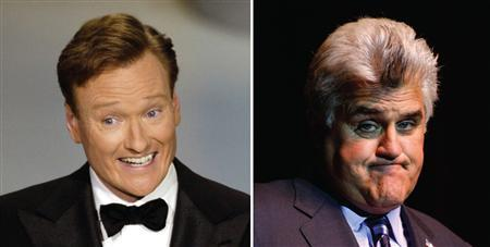Conan O'Brien amd Jay Leno in a combination image. REUTERS/File