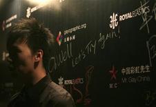 """<p>15 gennaio 2010. Un ragazzo che avrebbe dovuto prender parte al concorso di """"Mr Gay Cina"""". REUTERS/Jason Lee</p>"""