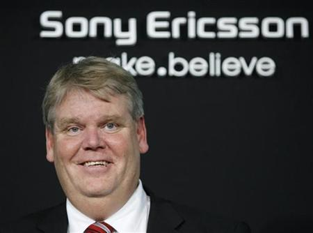 Sony Ericsson Chief Executive Bert Nordberg smiles during a photo opportunity at an unveiling of the new XPERIA phone in Tokyo January 21, 2010. REUTERS/Yuriko Nakao