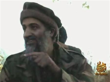 A video grab from undated footage obtained in 2007 shows Osama bin Laden making statements from an unknown location. REUTERS/REUTERS TV