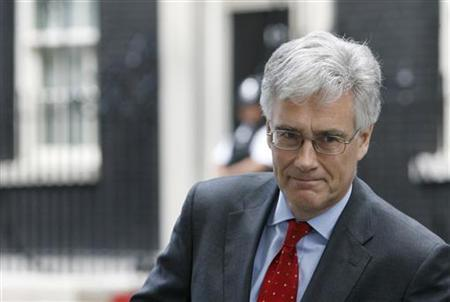 The Chairman of the Financial Services Authority (FSA) Adair Turner leaves Downing Streetn July 12, 2009. REUTERS/Luke MacGregor