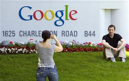 The sign at the entrance to the Google headquarters in Mountain View, California, in a file photo. REUTERS/Kimberly White