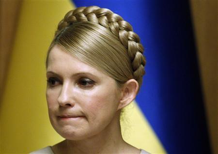 Ukraine's Prime Minister and presidential candidate Yulia Tymoshenko chairs a cabinet meeting in Kiev February 11, 2010. REUTERS/Gleb Garanich