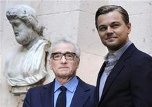 "<p>U.S. actor Leonardo DiCaprio (R) and director Martin Scorsese attend a news conference to promote their new film ""Shutter Island"" in Rome February 8, 2010. REUTERS/Alessandro Bianchi</p>"