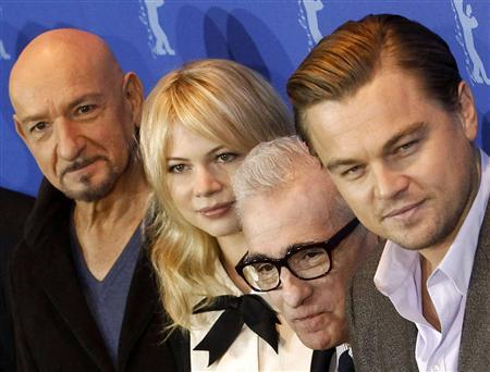 Actors Ben Kingsley, Michelle Williams, film director Martin Scorsese and Leonardo DiCaprio (L-R) pose for the media during a photocall to promote the movie ''Shutter Island'' at the Berlinale International Film Festival in Berlin February 13, 2010. REUTERS/Fabrizio Bensch