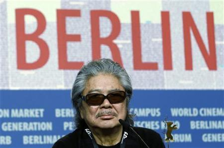 Film director Koji Wakamatsu attends a news conference to promote the Japanese movie ''Caterpillar'' at the 60th Berlinale International Film Festival February 15, 2010. REUTERS/Fabrizio Bensch