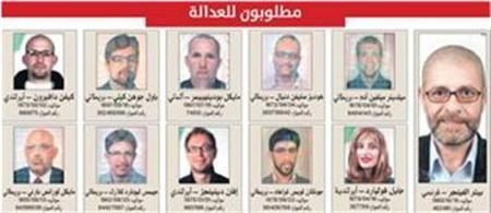 An image courtesy of Dubai police shows the eleven people suspected of killing Mahmoud al-Mabhouh in a luxury hotel in the Gulf emirate last month. REUTERS/Dubai Police/Handout