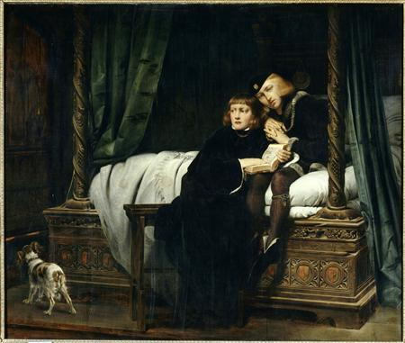''The Princes in the Tower'' (1830) painting by Paul Delaroche. REUTERS/Paul Delaroche, The Princes in the Tower/Musee du Louvre Paris/National Gallery/Handout