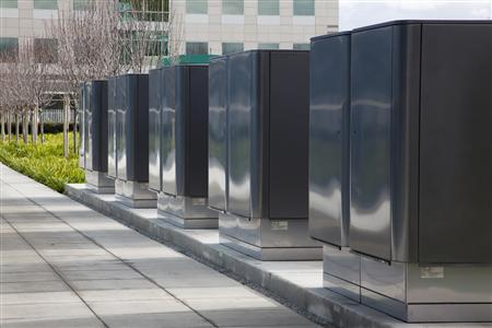 Undated photo shows the Bloom boxes at eBay's campus. REUTERS/Handout