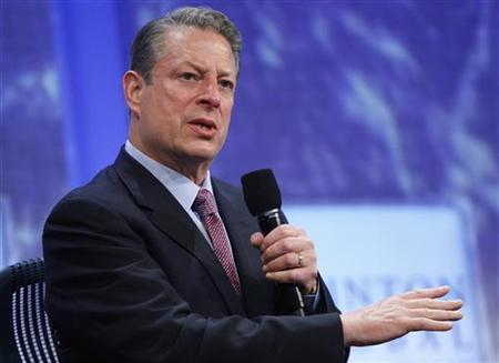 Former Vice President Al Gore participates in a panel discussion at the Clinton Global Initiative, in New York, September 23, 2009. REUTERS/Chip East