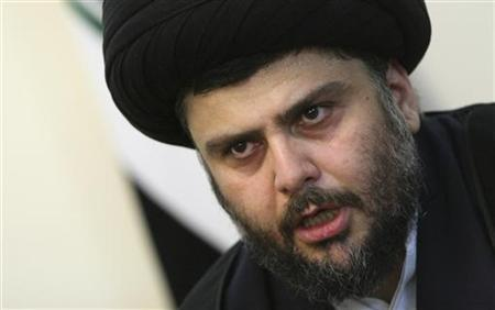 Iraqi Shi'ite cleric Moqtada al-Sadr speaks at a news conference in Tehran March 6, 2010. REUTERS/Fars News